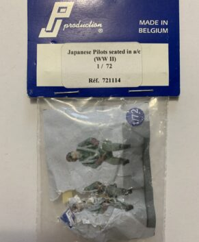 PJ Productions 1/72 Japanese Pilots seated in aircraft, WWII.